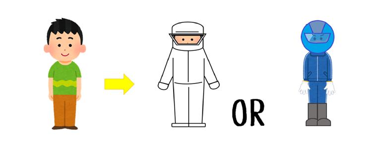 蜂駆除の際の服装