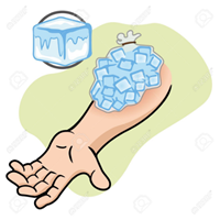 水で傷口を洗い流す