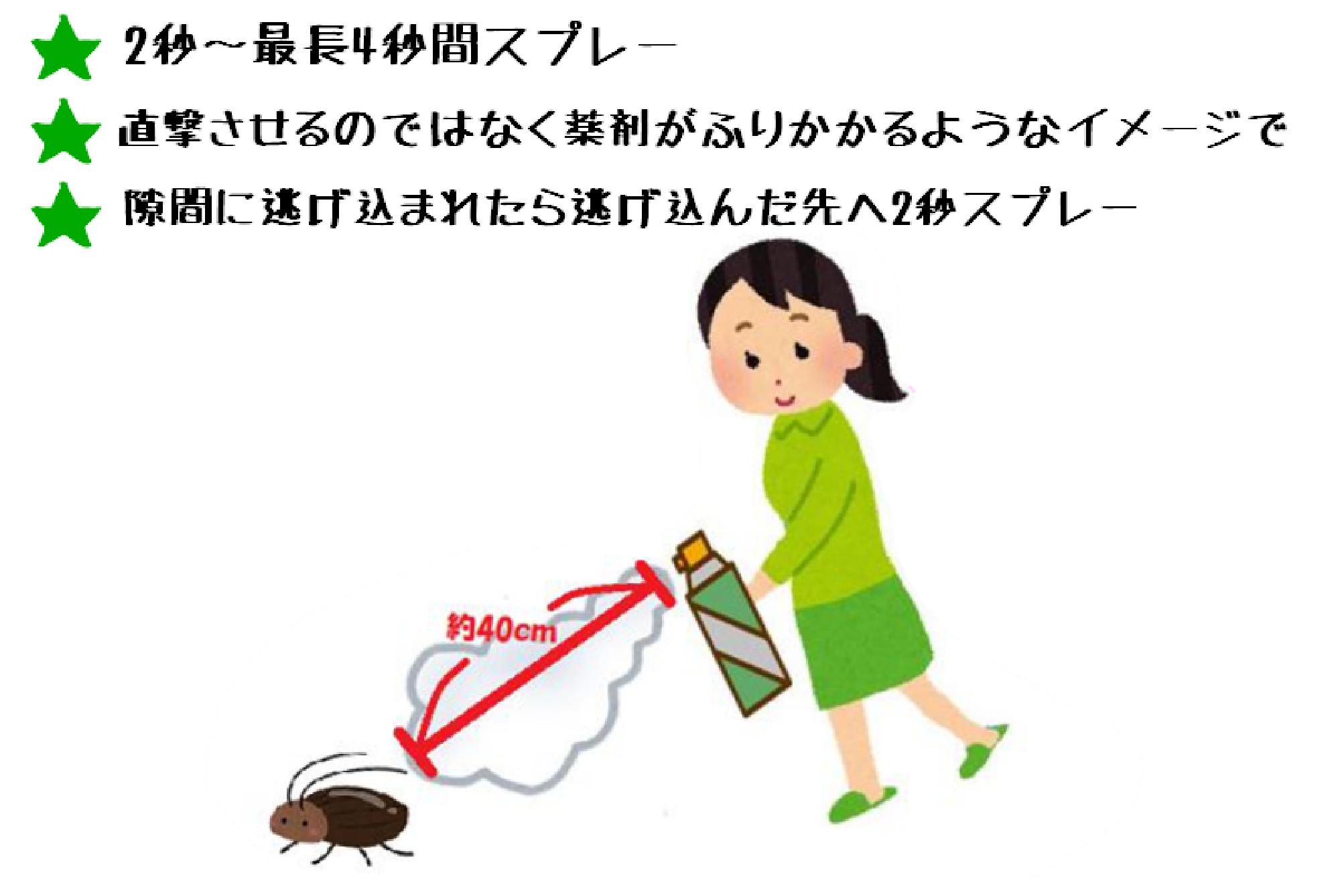 効果的な殺虫スプレーの使い方4つのコツ