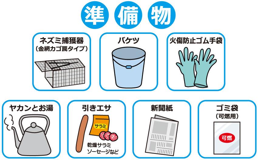 熱湯駆除の準備物