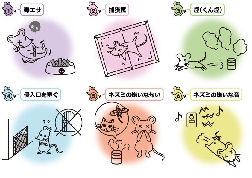 1 ネズミよけの方法は6種類!撃退グッズで誰でも簡単に対策可能!