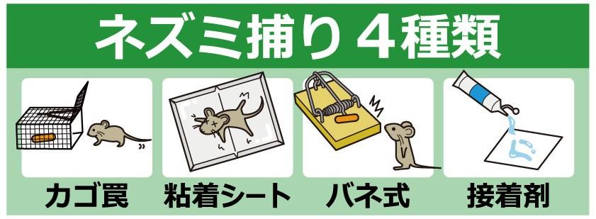 ネズミ捕りの種類