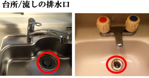 台所・流しの排水口