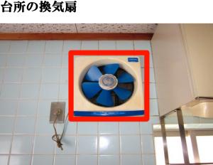 台所の換気扇