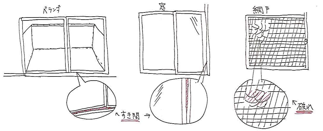 ベランダ・窓・網戸