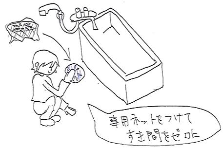 風呂場の排水口のすき間