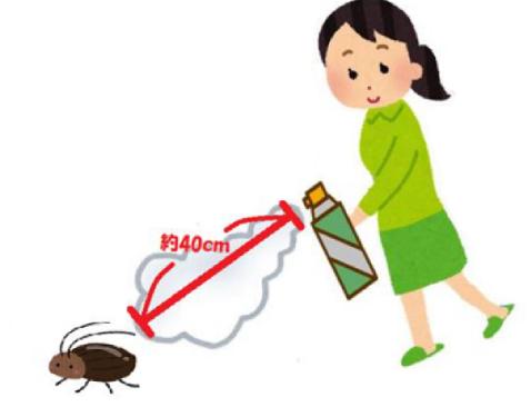 ゴキブリに殺虫スプレー